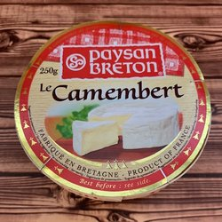 12 x French Camembert Cheese by Paysan Breton 250g