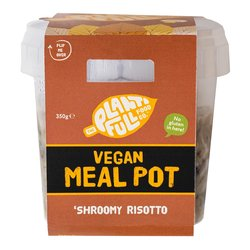 3 'Shroomy Risotto' Vegan Ready Meal Pots - Mushroom Risotto (3 x 380g)