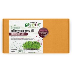 'Energy Elevator' Microgreens Growing Kit Inc. Broccoli, Coriander, Red Cabbage, Rocket & Pea Seeds - Grow Your Own Microgreens