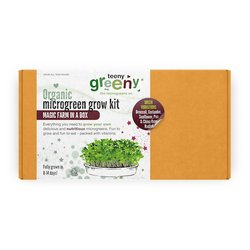 'Green Vibrations' Microgreens Growing Kit Inc. Sunflower, Broccoli, Coriander, Radish & Pea Seeds - Grow Your Own Microgreens