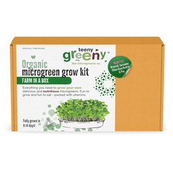 'Heart Felt' Microgreens Growing Kit Inc. Broccoli, Coriander, Radish & Pea Seeds - Grow Your Own Microgreens