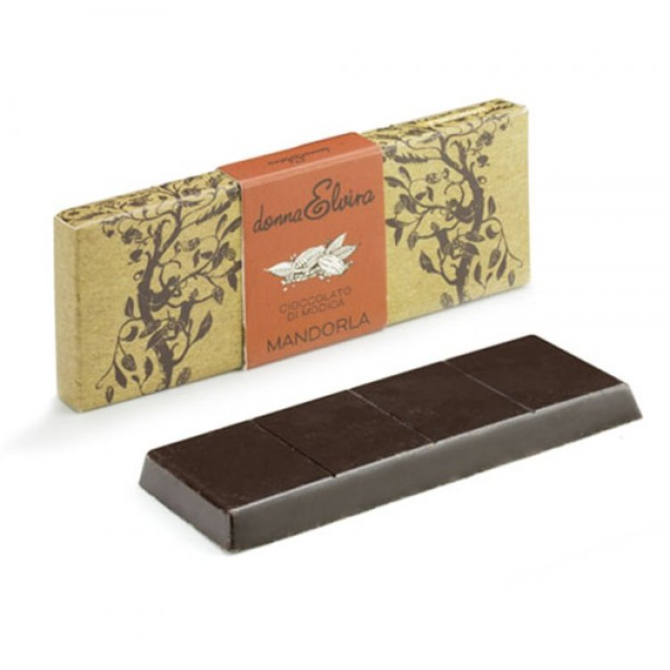 3 x Dairy-Free Modican Chocolate with Avola Almonds 70g by Donna Elvira