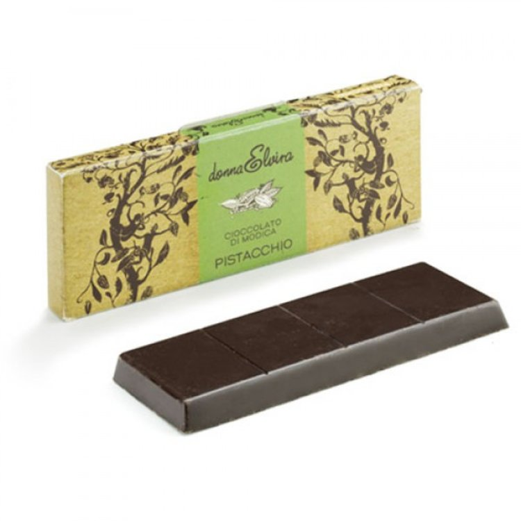 3 x Dairy Free Modican Chocolate with Bronte Pistachio 70g by Donna Elvira