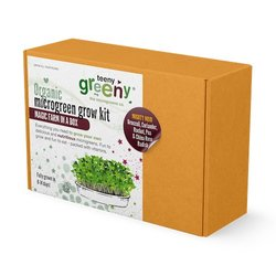 'Mighty Mojo' Microgreens Growing Kit Inc. Broccoli, Coriander, Radish, Rocket & Pea Seeds - Grow Your Own Microgreens
