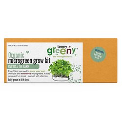'Super Powers' Microgreens Growing Kit Inc. Broccoli, Red Cabbage & Kale Seeds - Grow Your Own Microgreens