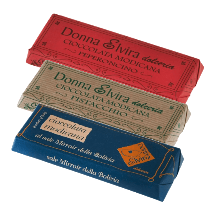 Dairy-Free Modican Chocolate Bar Set - Salt, Pistachio & Pepper 3 x 100g