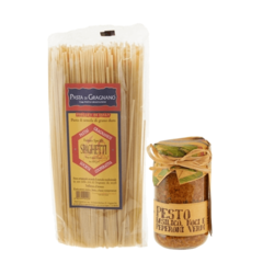 Basil, Walnut & Green Pepper Pesto with Spaghetti 212ml & 500g