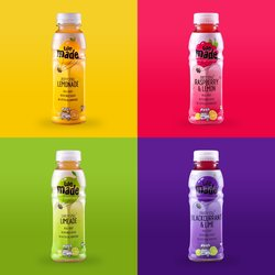 We Made Drinks Variery Pack - 12 Bottles Inc. Raspberry & Lemon, Blackcurrant & Lime, Still Lemonade & Still Limeade 330ml