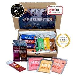 Veloforte Endurance Nutrition Selection Box - 7 x Natural Energy Bars 62g, 3 x Natural Energy Gels 33g & 3 x Natural Electrolyte Powders 25g