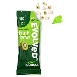 14 x Kiwi & Banana Freeze-Dried Fruit Snacks 8g - Fruit Bites by Evolved Snacks - Vegan Paleo Snacks