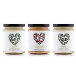 Vegan Mayo Bundle by Lucy's Dressings - 2 x Vegan Mayonnaise 240g & 1 x Spicy Vegan Mayonnaise