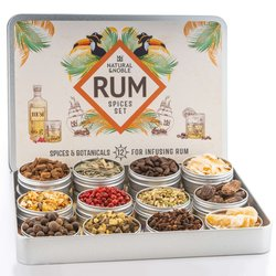 Rum Spices Gift Set - Make Your Own Spiced Rum - 12 Botanicals & Spices for Rum - Gift for Rum Lovers