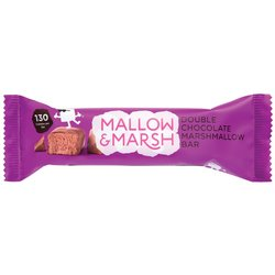 12 Double Chocolate Marshmallow Bars by Mallow and Marsh - Chocolate Coated Marshmallow Bars 35g