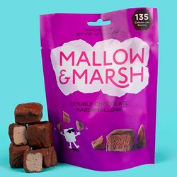 6 Double Chocolate Mallow and Marsh 100g Sharing Bags - Chocolate Coated Marshmallows