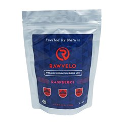 Organic Hydration Drink Mix Raspberry - Electrolyte Powder by Rawvelo 400g
