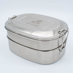Two-tiered Lunch Box - Stainless Steel Lunch Box with Compartments