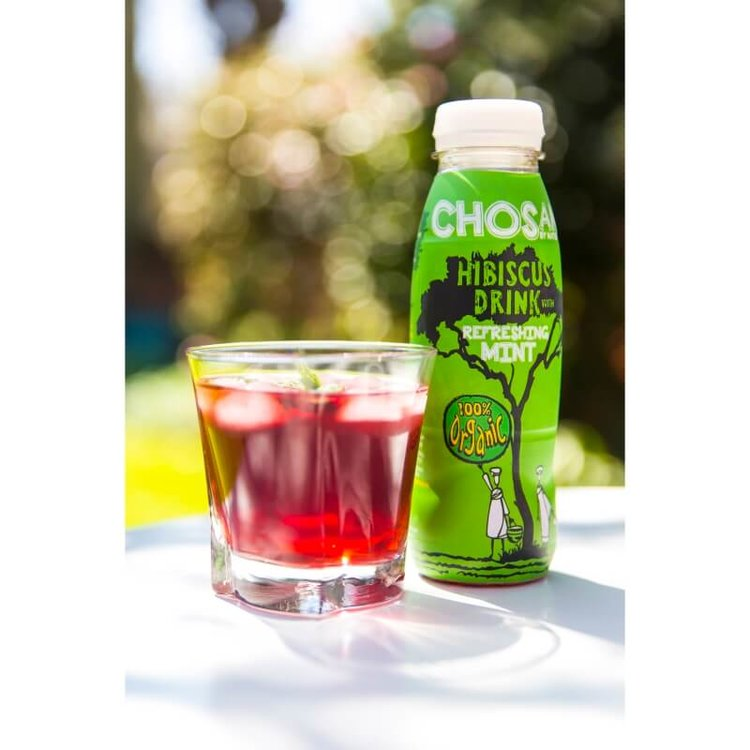 Organic Hibiscus Drink with Refreshing Mint Drink 5 x 330ml