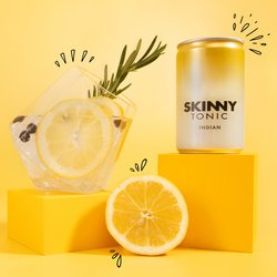 24 x Skinny Tonic Indian Tonic Water 150ml - Sugar Free Tonic Water