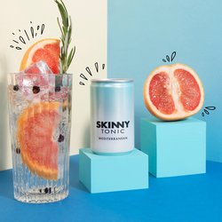 24 x Skinny Tonic Mediterranean Tonic Water 150ml - Sugar Free Tonic Water