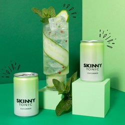 24 x Skinny Tonic Cucumber Tonic Water 150ml - Sugar Free Tonic Water
