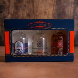 Leith Spirits Gift Set - Set of 3 Miniature Spirits Inc. Leith Gin, Leith Vodka & Leith Rum (50ml Per Bottle)