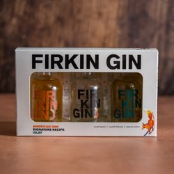 Firkin Gin Gift Set - Gin Miniatures Gift Set (3 x 50ml Bottles)
