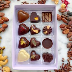 Vegan Chocolate Box with 12 Vegan Truffles