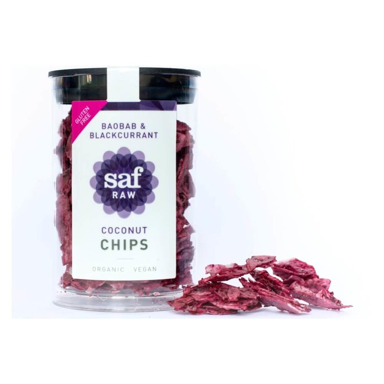 Organic Baobab & Blackcurrant Coconut Chips 30g