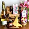 Luxury French Hamper with Sparkling Wine, Cheese, Biscuits, Cherry Chutney & Milk Chocolate