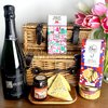 Luxury French Cheese & Champagne Hamper with Cherry Chutney & Biscuits