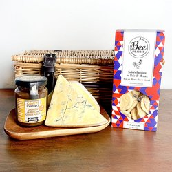 French Cheese Hamper with Chutney & Biscuits