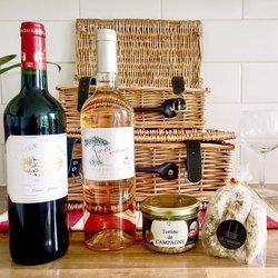 French Wine Hamper inc. Pork Terrine, Walnut Saucisson, Red & Rosé Wines