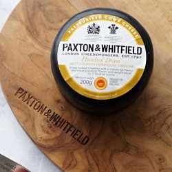 Hundred Dram West Country Farmhouse Cheddar by Paxton & Whitfield 200g