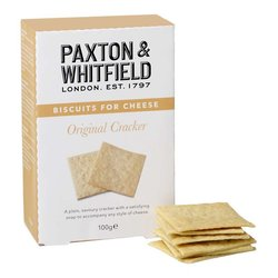 Original Crackers 100g - Biscuits for Cheese by Paxton & Whitfield