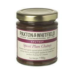Spiced Plum Chutney 198g - Cheese Accompaniment by Paxton & Whitfield