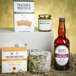 Cheddar & Ale Gift Box by Paxton & Whitfield - Cheese & Ale Gift Set