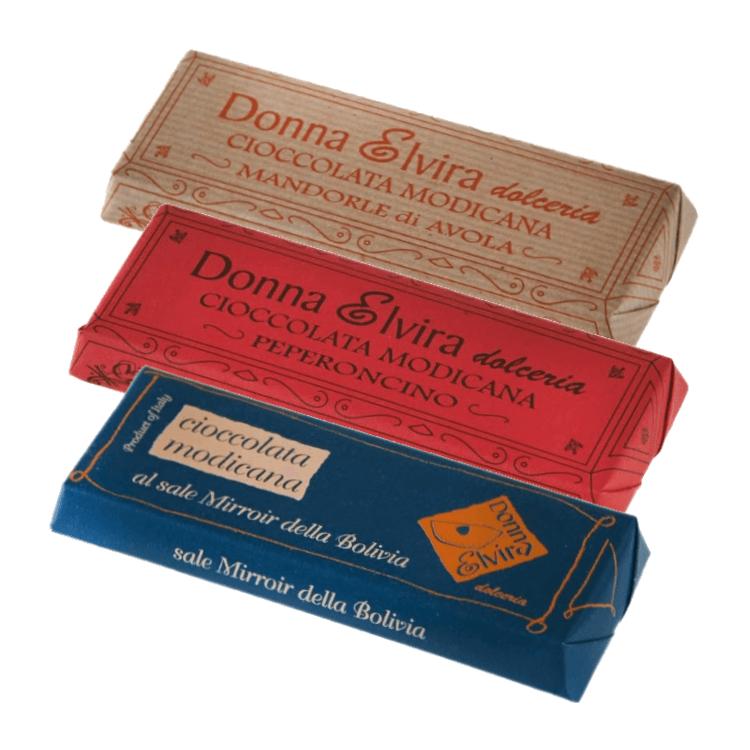 Dairy-Free Modican Chocolate Bar Set - Almonds, Pepper & Salt 3 x 100g