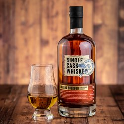 Indiana Bourbon Four Year Aged Single Cask Whiskey By Leith Stillroom 70cl 46% ABV