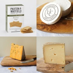 Paxton & Whitfield 'Deliciously British' Cheese Selection with Tunworth, Lincolnshire Poacher, Shropshire Blue & Rosemary Wafers