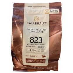 Callebaut Milk Chocolate Callets 2.5kg - Belgian Cooking Chocolate