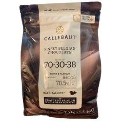 Callebaut 70.5% Dark Chocolate Callets 2.5kg - Belgian Cooking Chocolate