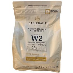 Callebaut White Chocolate Callets 2.5kg - Belgian Cooking Chocolate