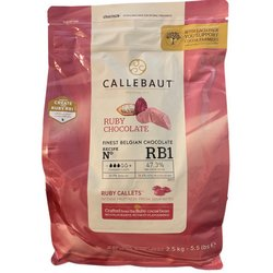 Callebaut Ruby Chocolate Callets 2.5kg - Belgian Cooking Chocolate