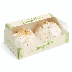 Pistachio Meringue Giants by Flower & White 140g - Box of 2 Giant Meringues