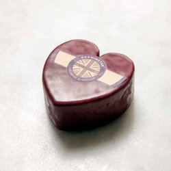 Godminster Heart Vintage Organic Cheddar Cheese 400g (For Gift or Cheese Board)