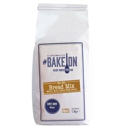 80/20 Bread Mix 1.5kg - White Bread Mix with Added Wholemeal - #BakeOn by Flower & White