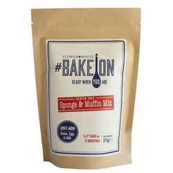 Gluten-free Cake Mix 375g - #BakeOn Gluten-free Sponge & Muffin Mix by Flower & White