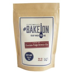 Gluten-free Brownie Mix 375g - #BakeOn Chocolate Fudge Brownie Mix by Flower & White