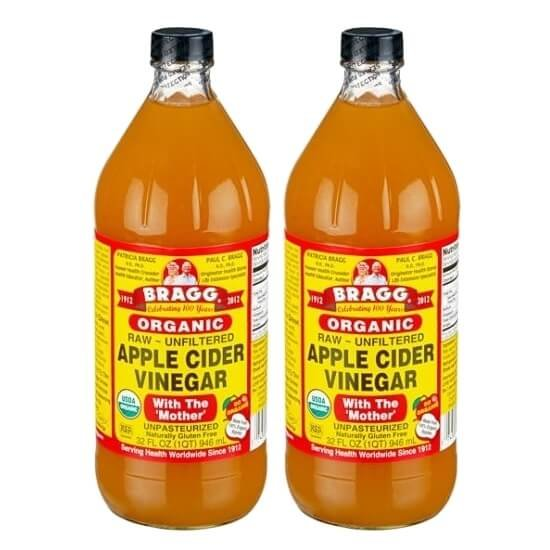 2 x Bragg Organic Apple Cider Vinegar 946ml (With The 'Mother')