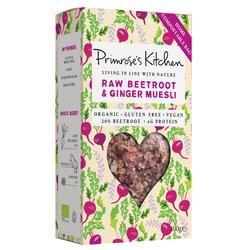 6 x Raw Beetroot & Ginger Muesli by Primrose's Kitchen 300g - Organic, Vegan, Gluten-free Muesli